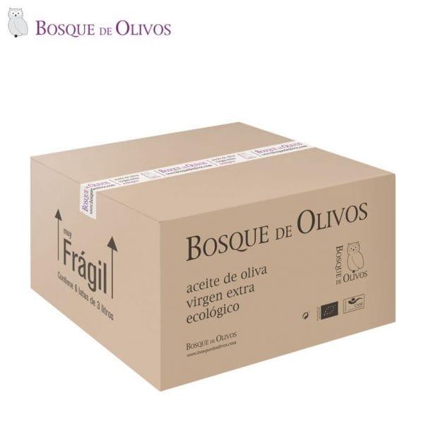Caja 4 latas 3 litros aceite oliva virgen extra ecológico