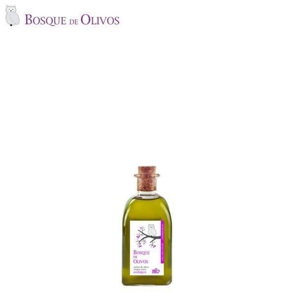 Botella 250ml aceite oliva virgen extra ecológico. Tienda Online Bosque de Olivos. Somos productores. Te lo llevamos a casa.
