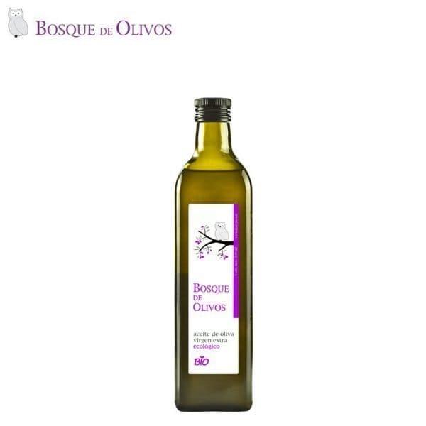 Botella marasca 500ml aceite oliva virgen extra ecológico. Tienda Online Bosque de Olivos. Somos productores. Te lo llevamos a casa.